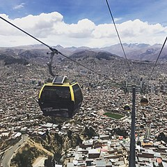 La Paz Places To Visit and Tourist Interest Cablecar Teleferico