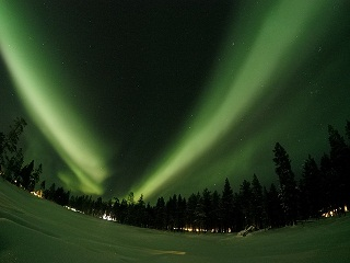 Lapland Points of Interest light show the Aurora Borealis