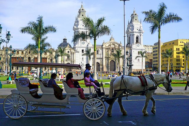 Lima Travel Guide The Plaza Mayor or Plaza de Armas of Lima