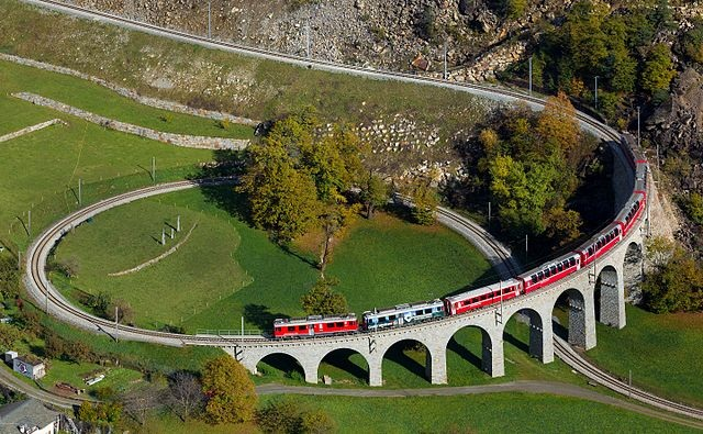 Switzerland Spiral Rail near Brusio
