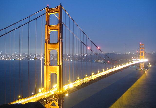 Enjoying at San Francisco, California Golden Gate Bridge