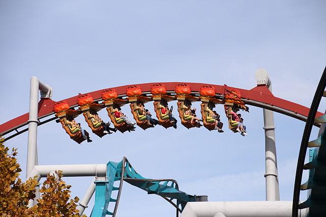 Orlando World Dragon Challenge roller coaster