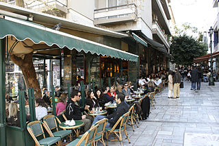 Athens Cafe bars and restaurants in Kolonaki