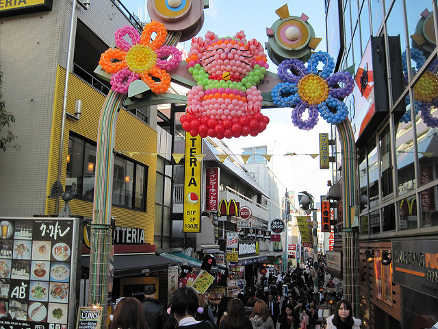 Harajuku markets in Tokyo